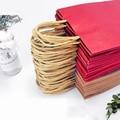 Крафт-бумажный мешок для покупок, Подарочный мешок большого размера для одежды, Подарочный пакет для еды - фото