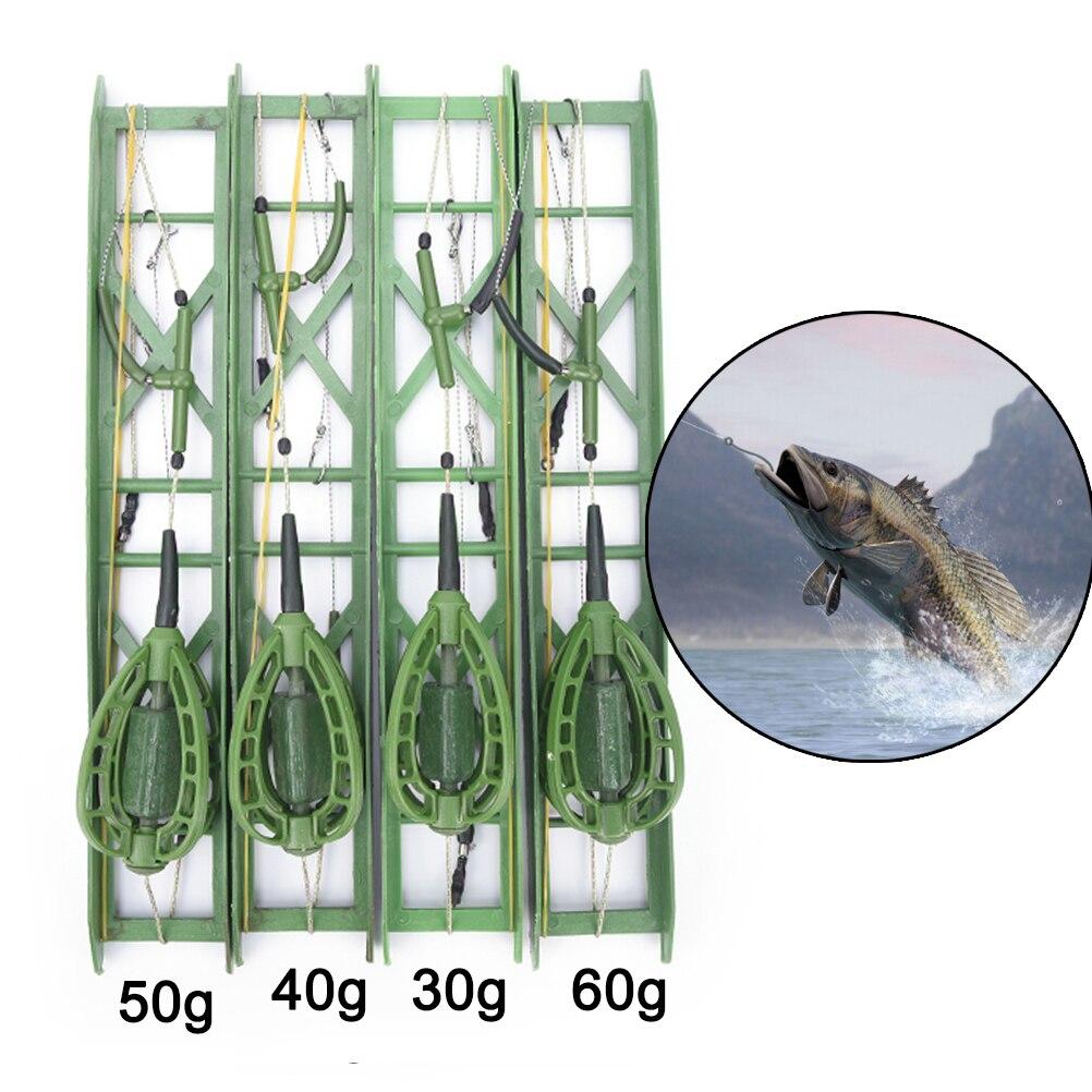 1pcs Carp Catfish Feeder Fishing Accessories 30g,40g,50g,60g Fishing Bait Cage Fishing Hook Рыбная ловля