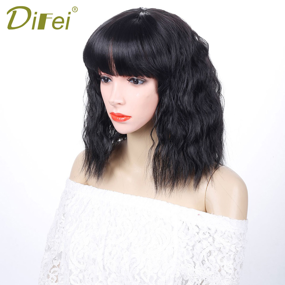 DIFEI Short Curly Hair Curly Hair Curls High Temperature Synthetic Chemical Fibre Wigs Cospaly Wig Extended Clip Fiber Wigs ...
