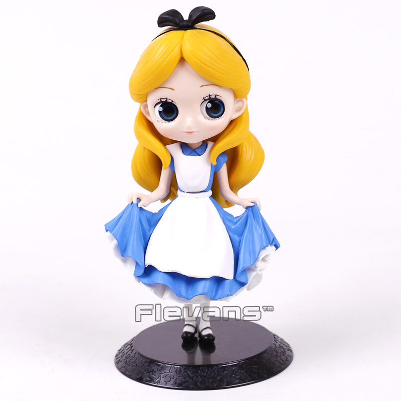 Alice Q Posket Characters Alice Alice in Wonderland PVC Figure Collectible Model Toy Doll 15cm чехол для iphone 5 глянцевый с полной запечаткой printio служанка в кофейне джон фредерик льюис