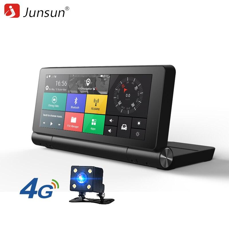 Junsun E28 новый 4 г gps-навигации Android 5.0 <font><b>Bluetooth</b></font> Встроенная память 16 ГБ Оперативная память 1 ГБ Full HD 1080 P Автомобильный видеорегистратор с двумя объек&#8230;