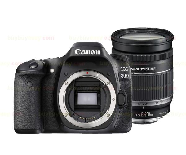 New Canon EOS 80D Camera Body & EF-S 18-200mm f/3.5-5.6 IS Lens Kit canon eos 6d 20 2mp full frame dslr camera body ef 24 105mm f4 l is lens kit