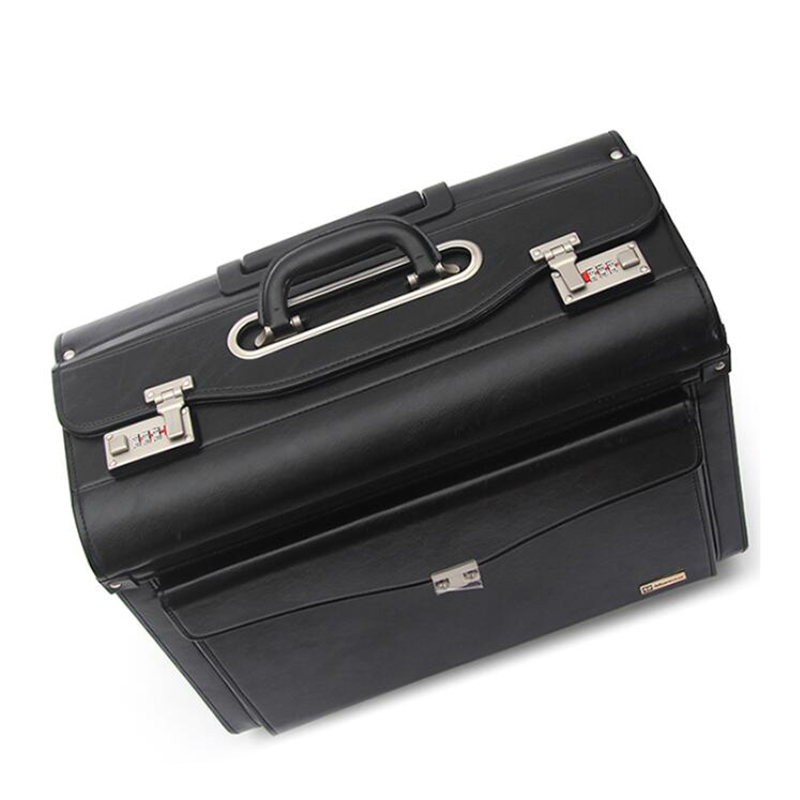 Bag Suitcase-Cabin Wheels Hand-Trolley Travel Luggage Pilot Black On Lawyer CHENGZHI