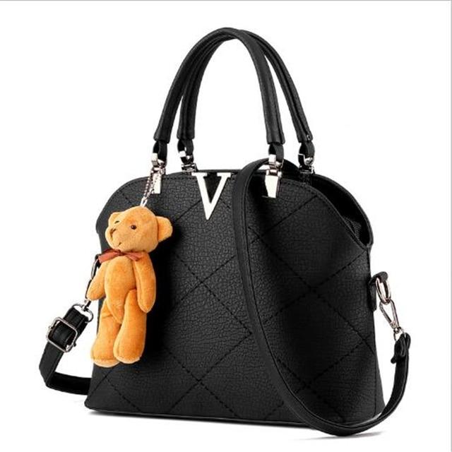 2017 Women Fashion Leather Shoulder bags Girls Crossbody Messenger bag Ladies Handbag and Purse Femme Sac A Main Black Red Gray