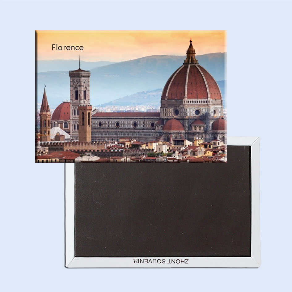 Souvenir Magnets FREE Shipping,Italy Florence CIty Scene Tourist Metal Fridge Magnet SFM5200
