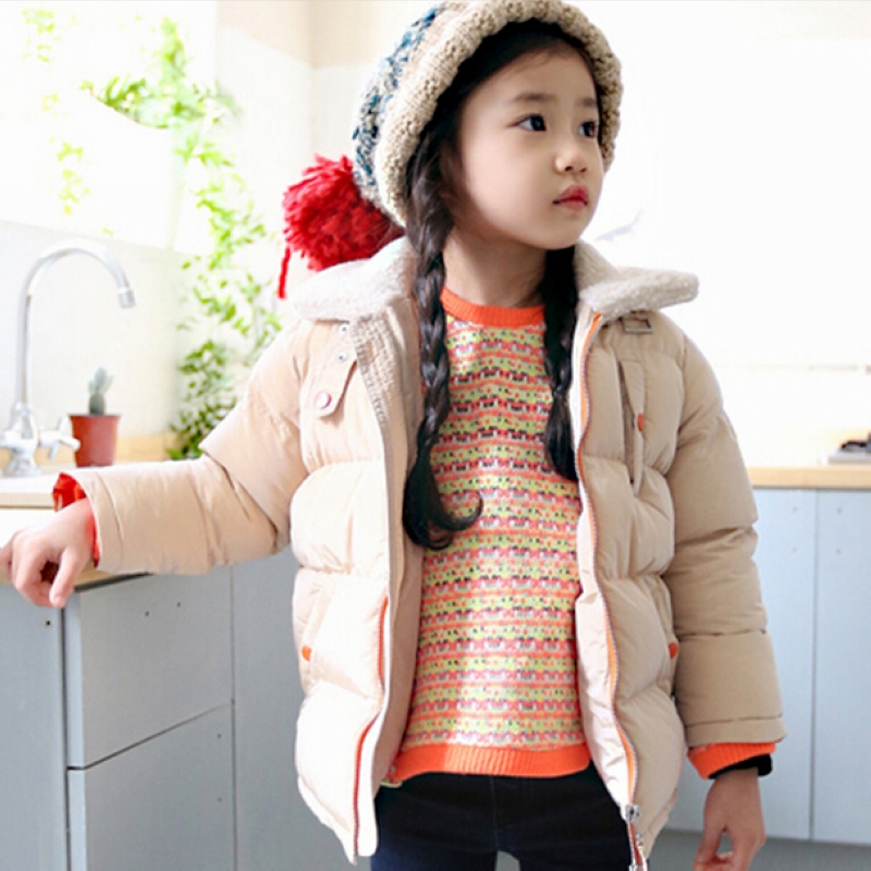 ФОТО Kids winter coat girls thick cotton padded girls Princess down Jacket Outdoors Parkas fashion outwear Clothing For Baby