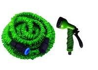 Gratis verzending 100ft lange slang met pistool water tuin pipe green water klep + spuitpistool met connector