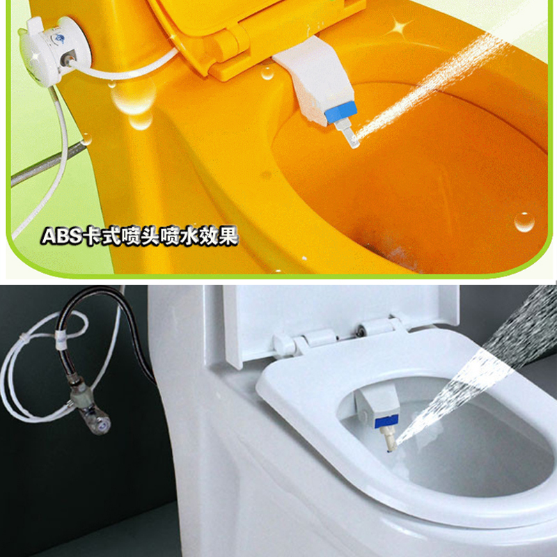 DIY Cold Water Non-Electric Bidet Toilet Toilet That Sprays Water With Built In Seat Attachment Bidet Japanese European Bathroom