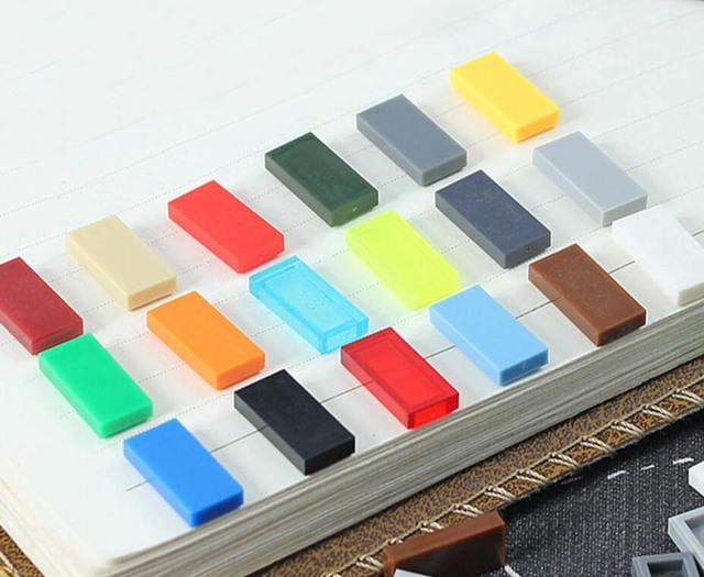 Bulk mattoni parti piastra piana di piastrelle diy block toy