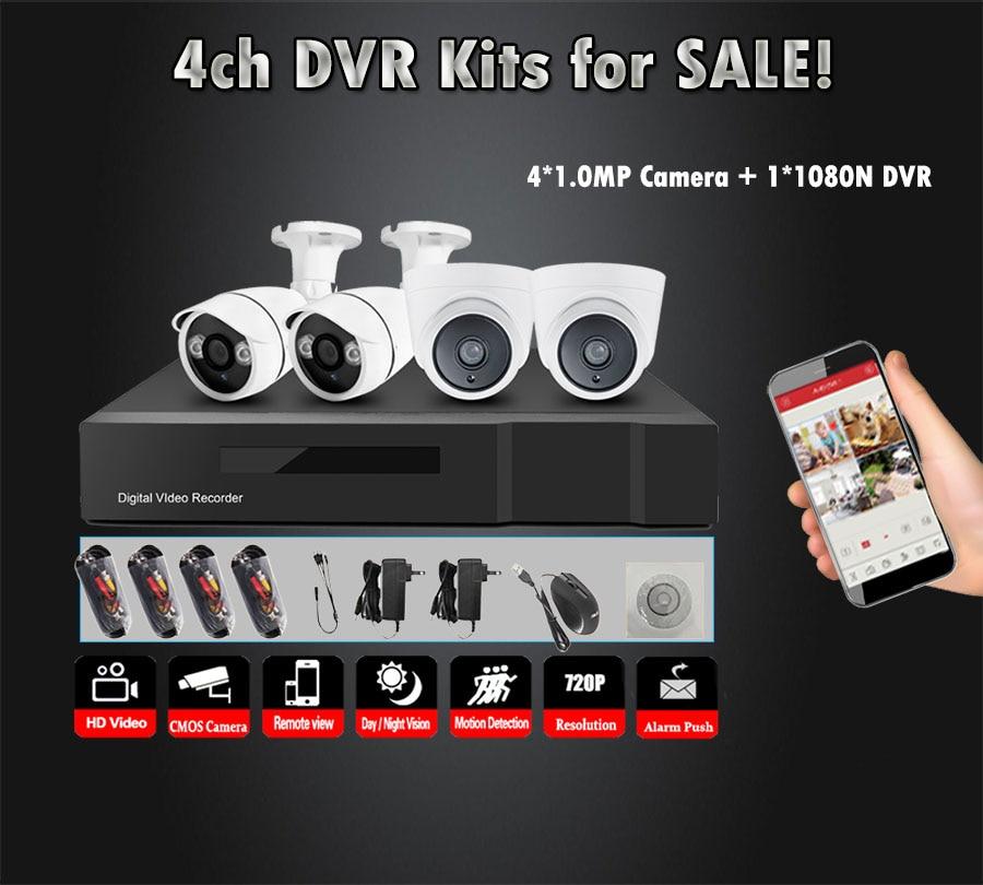 4CH CCTV System 4PCS 720P Indoor/Outdoor-Wetter Sicherheit Kamera DVR Kit Tag/Nacht Home Video überwachung System
