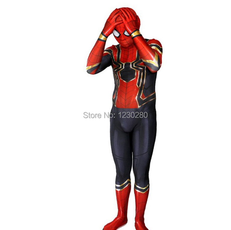 2018 Avengers: Infinity War Spiderman Costume Spiderman Homecoming Cosplay Costume Tom Holland Iron Spider Man Suit