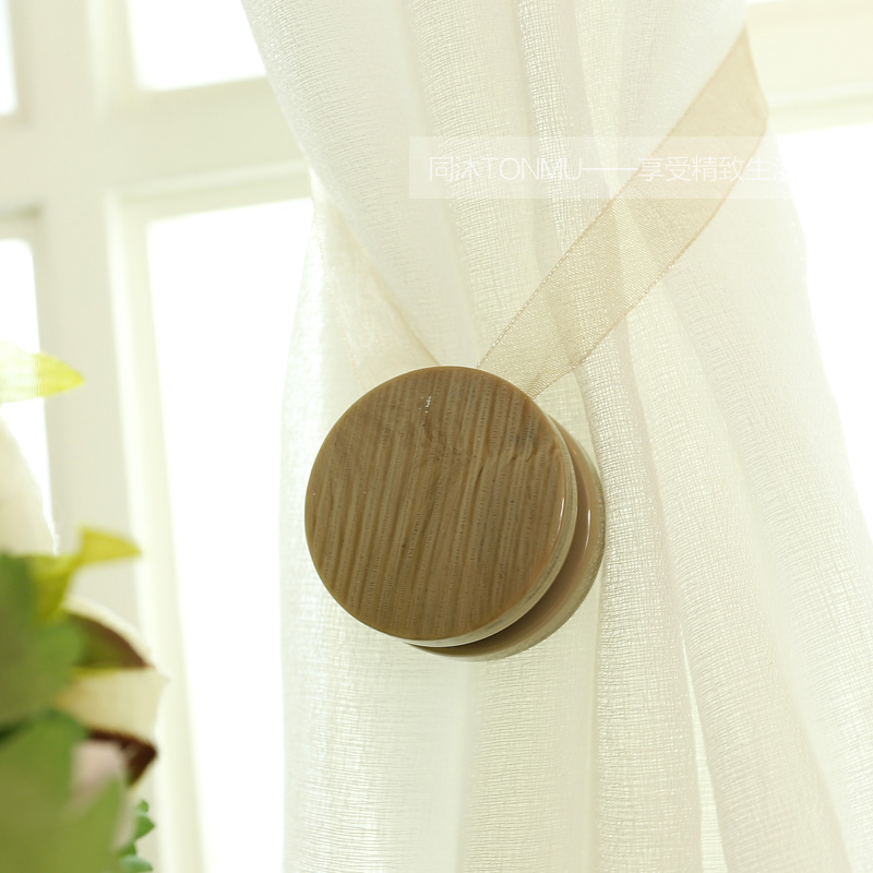 Original contracted Europe style magnetic curtain buckle curtain strap light coffee color household decorative curtain clip