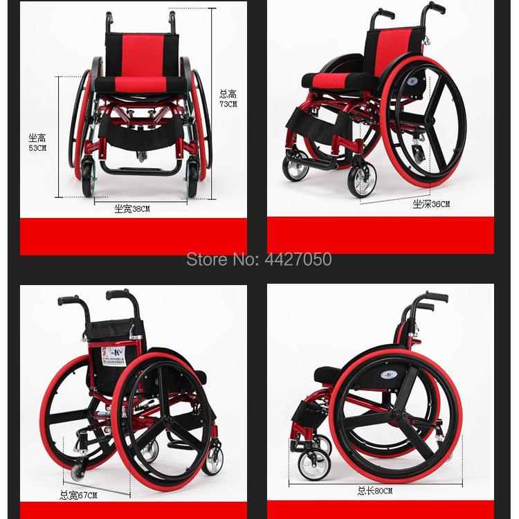 2019 Adult high quality handicapped leisure big wheels all terrain lightweight folding sport manual font b