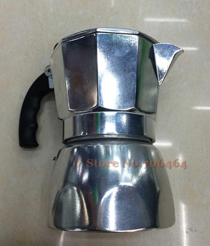 Personalizzato new alluminio 3 e 6 tazze di alta qualità piano cottura macchina per il caffè espresso caffettiera moka caffè vacumm caffettiera moq 250