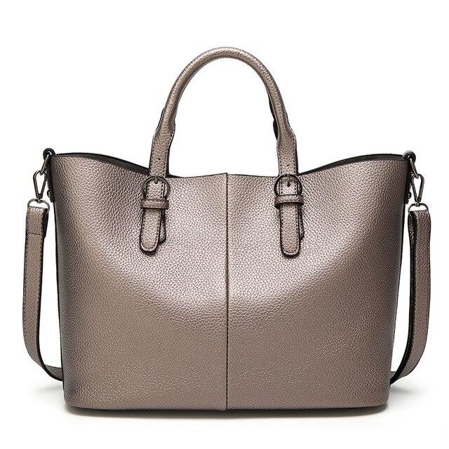 Large Capacity Women Handbags 2017 New Shoulder Bag Handbag Burgundy Pu Leather For Woman