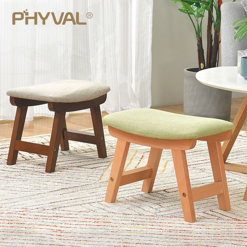 living room footstool furniture northern va wood pouf nordic stool simple ottoman for kids fabric