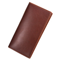 Luxury Brand High Quality PU Leather Men Long Bifold Wallet Purse Vintage Designer Male Carteira Money