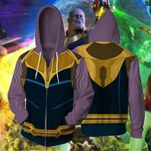Avengers: Endgame Thanos Cosplay Movie Hoodie Costume Sweatshirt Jacket Coats Men and Women Hot