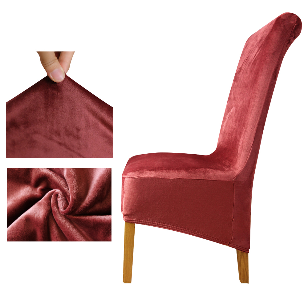 Aliexpress.com : Buy Velvet Fabric Europe Long High King Back Chair Cover Seat  Chair Covers Restaurant Hotel Party Banquet Housse De Chaise Home From ...