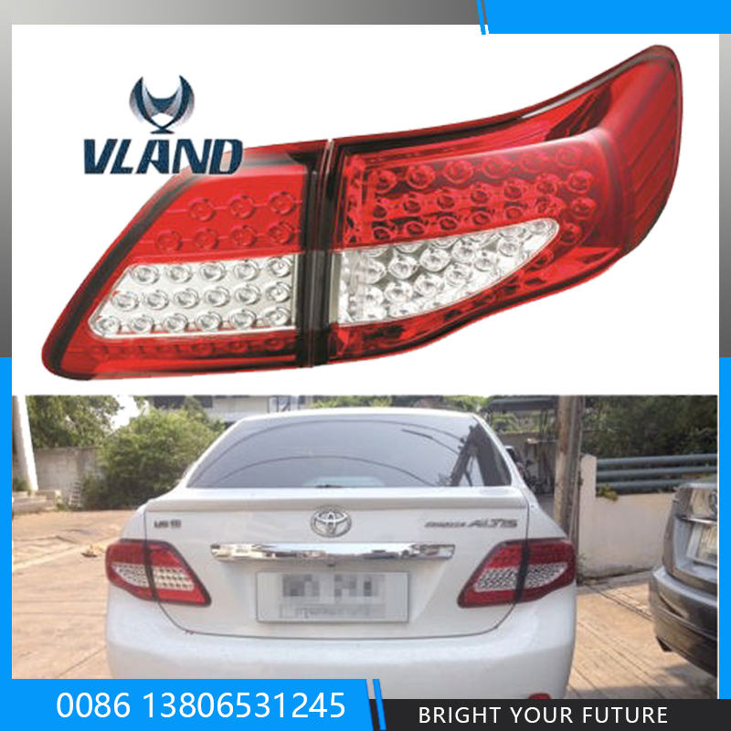 Car Styling Tail Lamp for Toyota Corolla 2008 2009 2010 2011 Brake Signal Tail Light Stop Rear Lamps car high positioned mount rear brake light stop lamp for nissan qashqai 2008 2009 2010 2011 2012 2013 2014