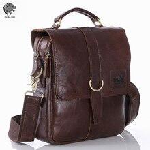 OU BA SHU High Quality Genuine Oil Wax Leather Briefcases Laptop Briefcase Business Zipper Black Handbag Soft Cowhide Bag