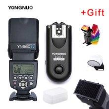 Yongnuo YN560IV YN560 IV YN 560 flaş Speedlite Canon Nikon Olympus Pentax için YongNuo ile RF603 II kablosuz flaş tetik
