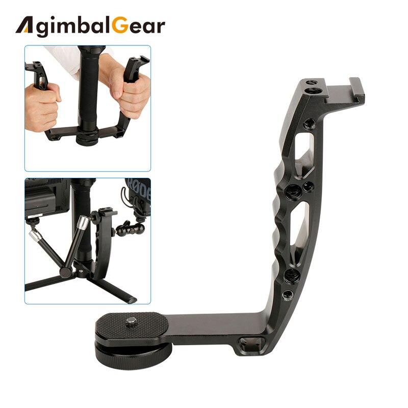 Gimbal accesorios L Bracke para DJI Ronin S grúa 2 V2 más Feiyu AK2000 AK4000 DSLR Stabilizer Grip con 1/4 Zapata