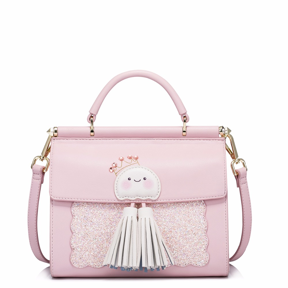 Handbag Funny Jellyfish Tassel Sequins Pink Female 2017 New Bags Shoulder Personized JUST STAR Bolsas Femininas Limited Stock женские блузки и рубашки hi holiday roupas femininas blusa blusas femininas