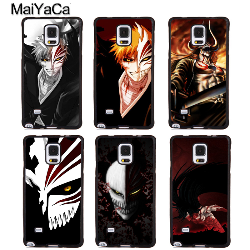 MaiYaCa BLEACH MANGA ANIME ICHIGO AIZEN Soft Rubber Phone Cases For Samsung S6 S7 edge plus S8 S9 plus Note 4 5 8 Back Cover