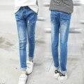 4 5 6 7 8 9 10 11 12 13 Anos de Jeans para Adolescentes Meninas Jeans Rasgado Para Crianças Primavera Calças Do Bebê Meninas Crianças roupas