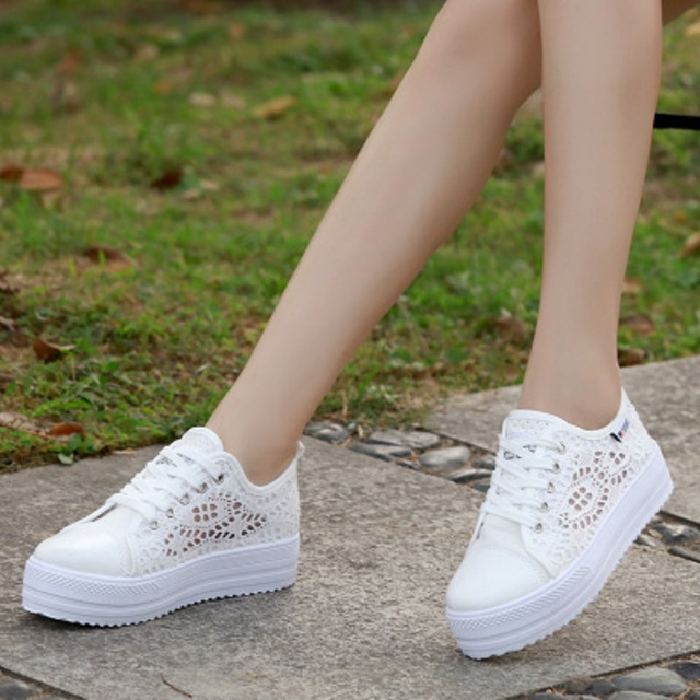 0590fb7f6df US $20.88 |2018 summer new girls canvas network high heeled sandals junior  high school casual wild shoes-in Middle Heels from Shoes on Aliexpress.com  ...