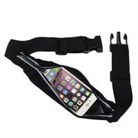 Single Waist Pack Running Fanny Pack Hide Cell Phone Holder Waterproof Pouch Reflective Stripe Adjustable Belt