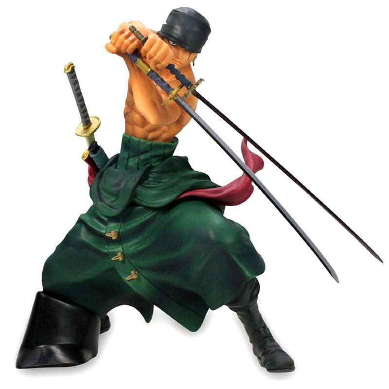 Cool 7.5 One Piece Figures 2 generation Zoro PVC Action Figure Collection Model Toy Free Shipping one piece action figure roronoa zoro led light figuarts zero model toy 200mm pvc toy one piece anime zoro figurine diorama