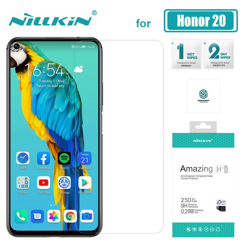Para Huawei Honor 20 Pro 10 9 8 Nillkin H + PRO 2.5D Vidro Temperado Protetor de Tela de Vidro para Huawei honra 20 10 Lite 9 8 HD Vidro
