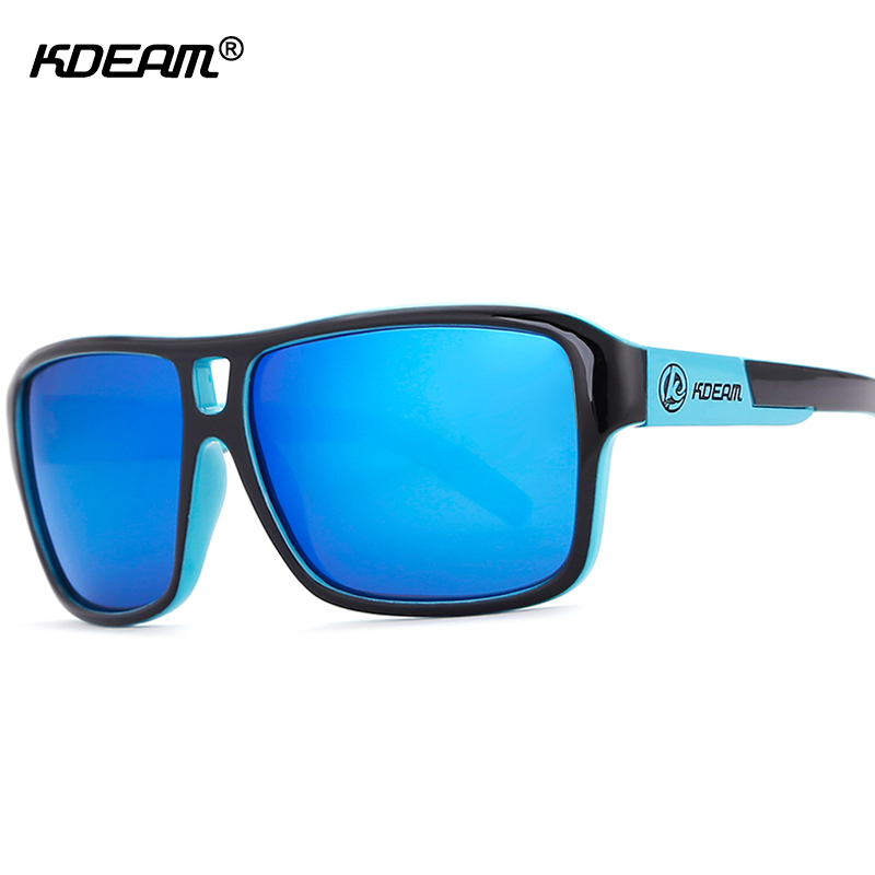 UV-Blocking Polarized Sunglasses Men Beach Sport Sun Glasses Polaroid Unisex 60'mm Square Sunglass With Free Package