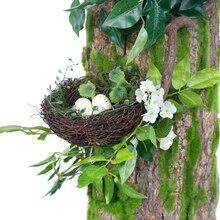 정말 소나무 껍질 이끼 등나무 꽃 진짜 손으로 인공 꽃 인공 꽃 DIY 홈 웨딩 호텔 선물 장식 느낌