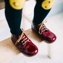 Fashion kids dress shoes toddler leather genuine shoes girls