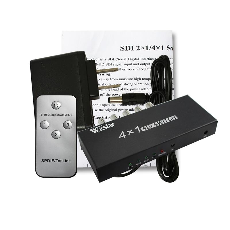 Wiistar SDI Switcher 4x1 HUB SDI Intelligent Switch Extender 4 To 1 Converter for 3G HD SD Monitor Security Camera CCTV 10pcs sdi switcher 4x1 hub sdi intelligent switch extender 4 to 1 converter for 3g hd sd monitor security camera cctv