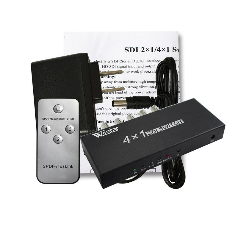 Wiistar SDI Switcher 4x1 HUB SDI Commutateur Intelligent Extender 4 À 1 Convertisseur pour 3g HD SD moniteur Caméra de Sécurité CCTV