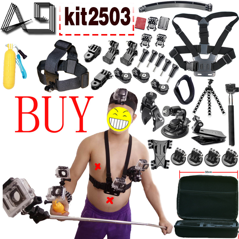 A9 For Action Camera accessories Set for Gopro Hero SJCAM XIAOMI YI 4K 2 Eken H9R
