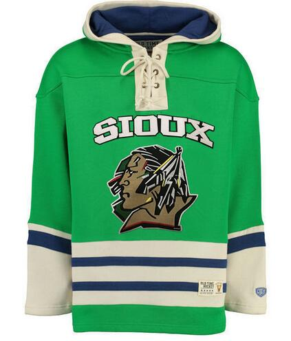 все цены на North Dakota Fighting Sioux Hockey Hoodie Personality Customize Any Name Any Numeber Stitched Men Sweater Ice Hockey Jersey онлайн