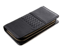 8070A Genuine Leather Men's Wallet Clutch Money Bags For Men Black Purse Men Wallet Coin Bag