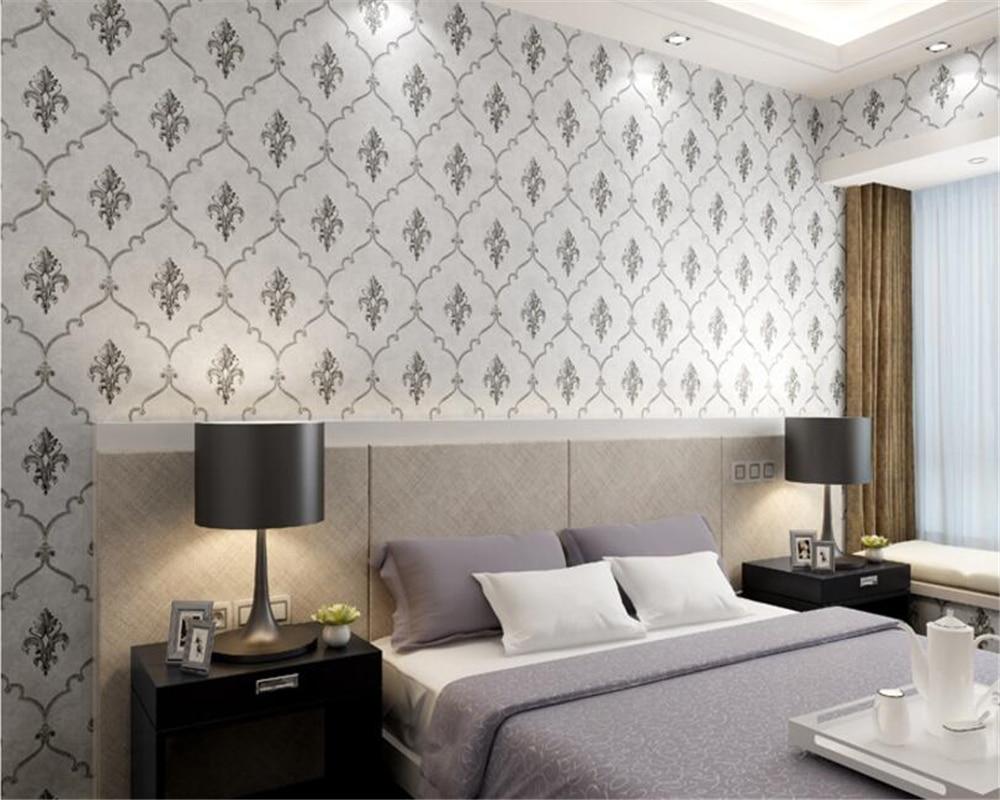 US $29.64 22% OFF|Beibehang Moderne minimalistischen europa Damaskus tapete  schlafzimmer wohnzimmer hotel TV hintergrund internet kaffee 3d tapete ...