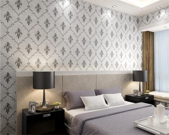 US $29.64 22% di SCONTO|Beibehang Moderno e minimalista europa Damasco  carta da parati camera da letto living room hotel TV sfondo internet caffè  3d ...