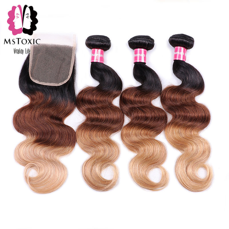 Hair Extensions & Wigs Mstoxic 613 Bundles With Closure Malaysian Straight Hair Bundles With Closure Remy Human Hair Honey Blonde Bundles With Closure Human Hair Weaves