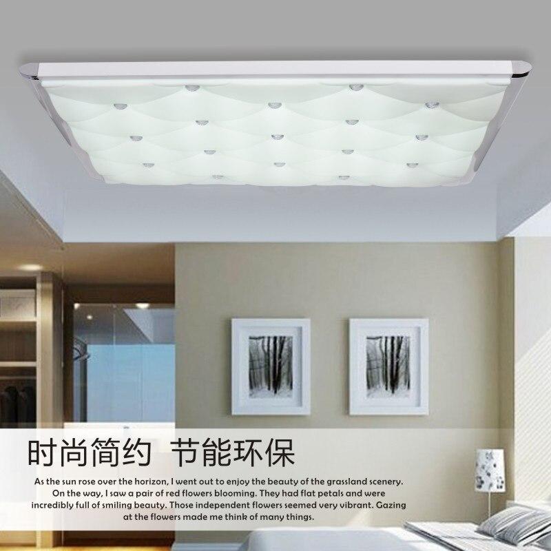 2015 Abajur Ceiling Lights Modern Living Room Light Bedroom Den Flat Lamps Aluminum Acrylic LED Lighting Size Luminaria In From