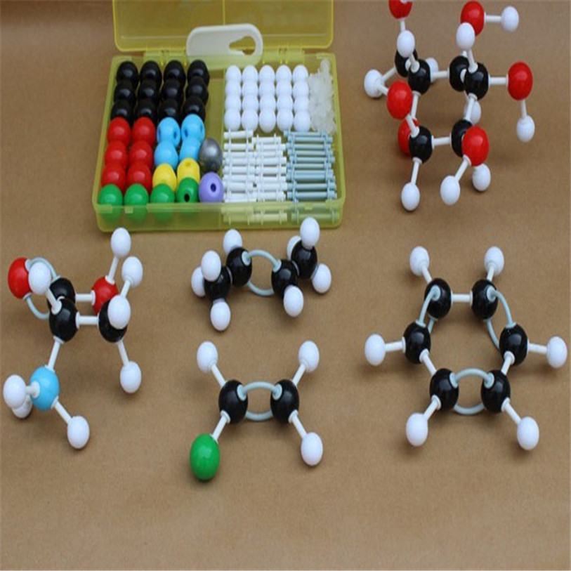 2017 HOT New Organic Chemistry Scientific Atom Molecular Models Links Kit Set Y7824 molecular model kit lz 23177 chemistry organic molecule structure models set student and teacher estuches school free shipping