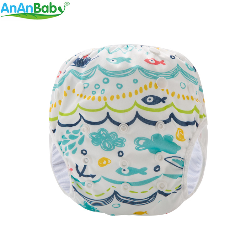 AnAnBaby Swim Windel Unisex Cute Cartoon Schwimmen Windeln Sommer Bademode Hosen