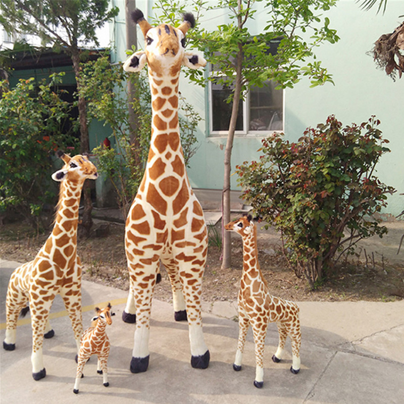 Fancytrader Giant Giraffe Plush Toys Pop Soft Stuffed Emulational Animals Giraffe Doll Decoration Gifts for Children 3 Sizes