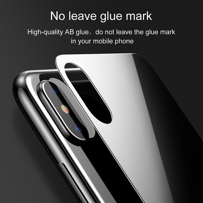 newest collection 8ebb4 af346 US $7.13 |Baseus Back Glass Battery Case For iPhone X Back Tempered Glass  Protector Door Housing Case Rear Glass For iPhone X Case Back-in Phone  Pouch ...